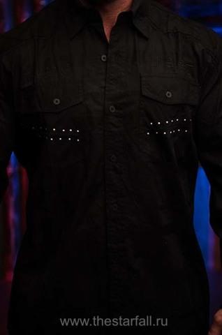 Affliction | Рубашка мужская LEGACY 110WV777 перед на модели