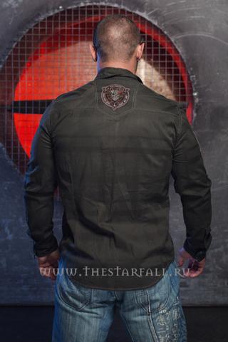 Affliction | Рубашка мужская A35325 спина на модели