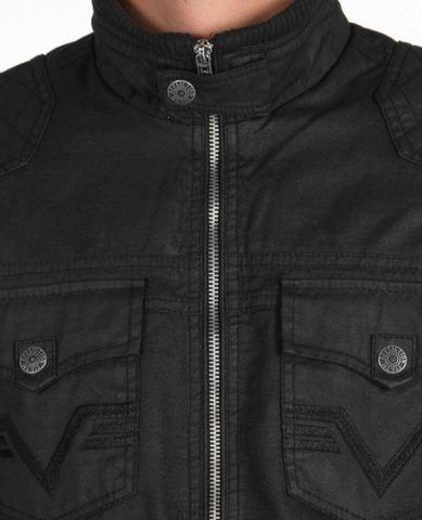 Affliction | Куртка мужская Black Premium Riverbend Jacket 110OW015 передние карманы