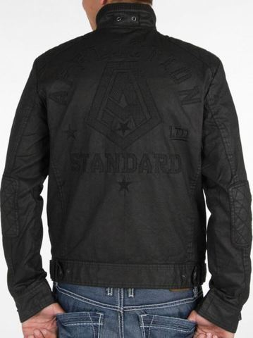 Affliction | Куртка мужская Black Premium Riverbend Jacket 110OW015 спина