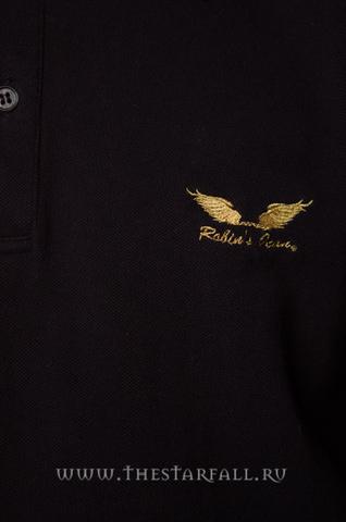 Поло Robin's Jean 35345 золотые крылья вышивка спереди