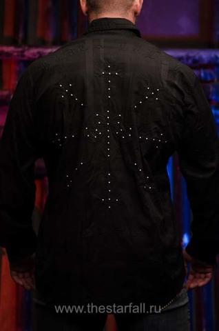Affliction | Рубашка мужская LEGACY 110WV777 спина на модели