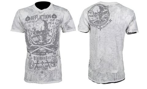 Affliction | Двусторонняя мужская футболка Cetina перед и спина