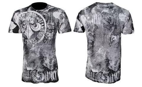 Affliction | Двусторонняя  мужская футболка Cetina обратная сторона перед и спина