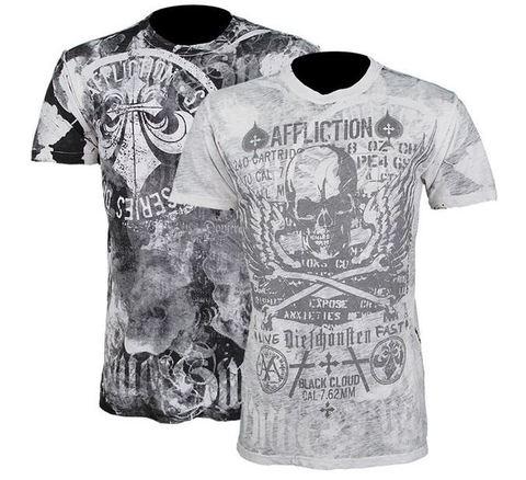Affliction | Двусторонняя мужская футболка Cetina перед две стороны