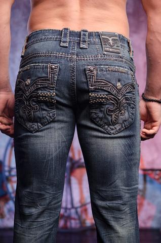 Rock Revival | Джинсы мужские NOAH A5 ALT STRAIGHT CUT JEAN TJ1631A5 задние карманы