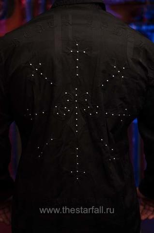 Affliction | Рубашка мужская LEGACY 110WV777 вышивка и клёпки на спине