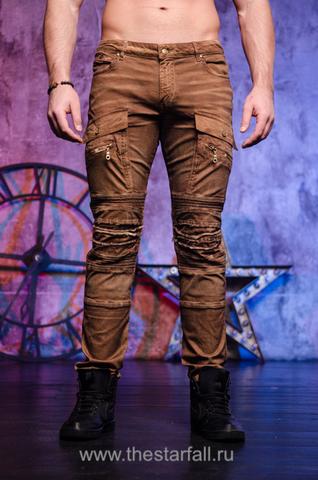 Мужские коричневые джинсы Robins Jean LA RUST