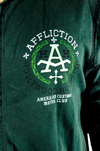 Affliction | Худи мужское двустороннее HOODLUMS A4604 принт спереди