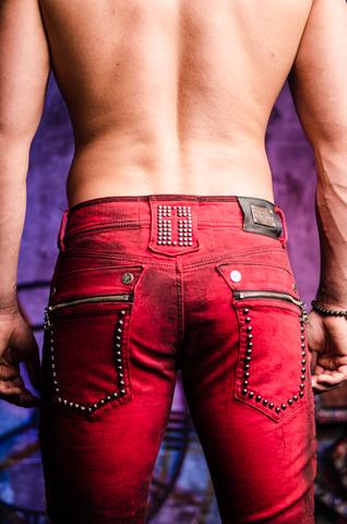 The Saints Sinphony | Джинсы мужские ANTIQUE SPIKE TRIM TSG212 задние карманы