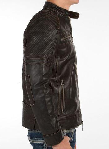 Affliction | Куртка мужская кожаная Day Watch Jacket 110OW135 правый бок