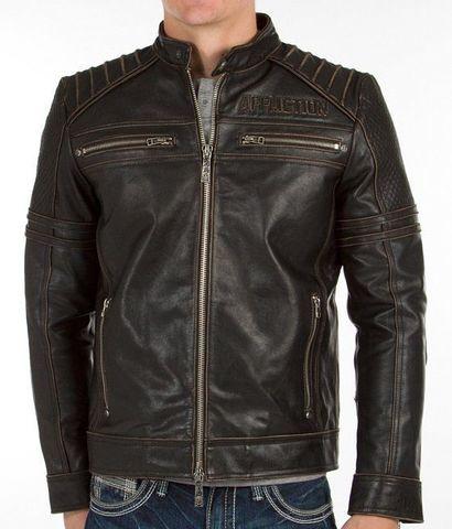 Affliction | Куртка мужская кожаная Day Watch Jacket 110OW135 перед